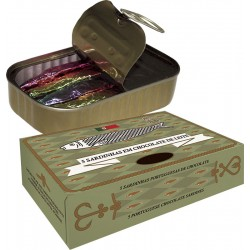 Milk Chocolate sardines in can 50g