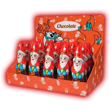 Chocolate Santa figure 65g in display box