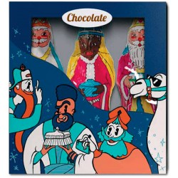 Chocolate Christmas fantasy box with 3 Wise man