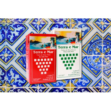 Terra e Mar pack with Red or White Wine 1L