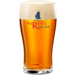Beer Martin's Real Ale draft beer glass