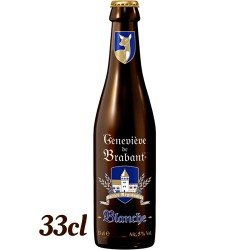 Beer Genevieve de Brabant Blanche bottle with 33cl