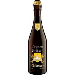 Beer Genevieve de Brabant Blonde beer bottle with 75cl