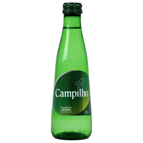 Campilho Mineral Sparkling Water 0.25L and 0.75L glass bottles