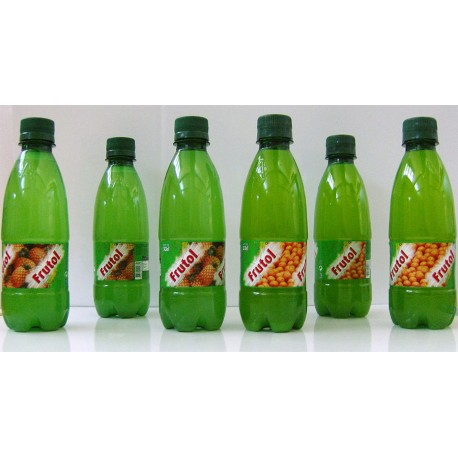 Frutol carbonated fruit juice 33cl assorted PET bottles, Orange, Pineapple and Lemon