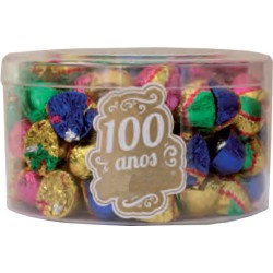 Small Milk Chocolate bonbons in  transparent box 400g