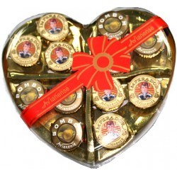 Chocolate bonbon Imperador in Heart Gift Box