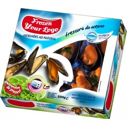 Mussels in 500g box