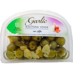 Garlic Green Olives 175gr