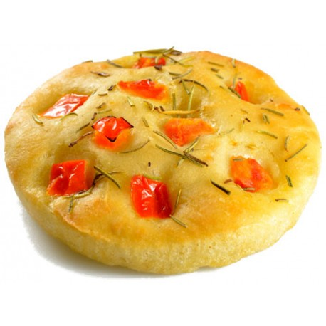Mini Focaccia from Modena with tomato and rosemary 70g