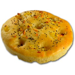 Mini Focaccia from Sicilia with lemon, garlic and poppy seeds 70g